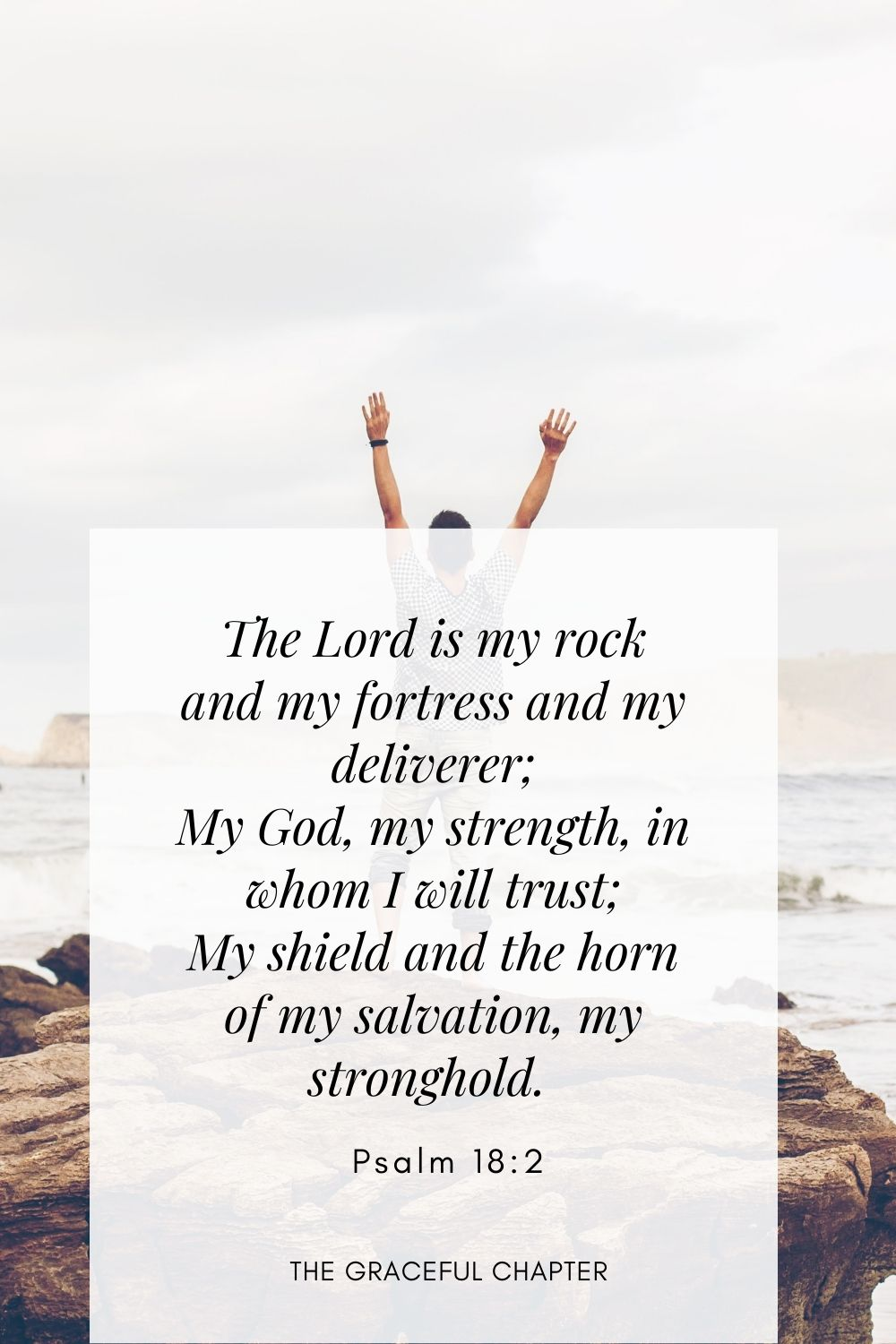 The Lord is my rock and my fortress and my deliverer; My God, my strength, in whom I will trust; My shield and the horn of my salvation, my stronghold.