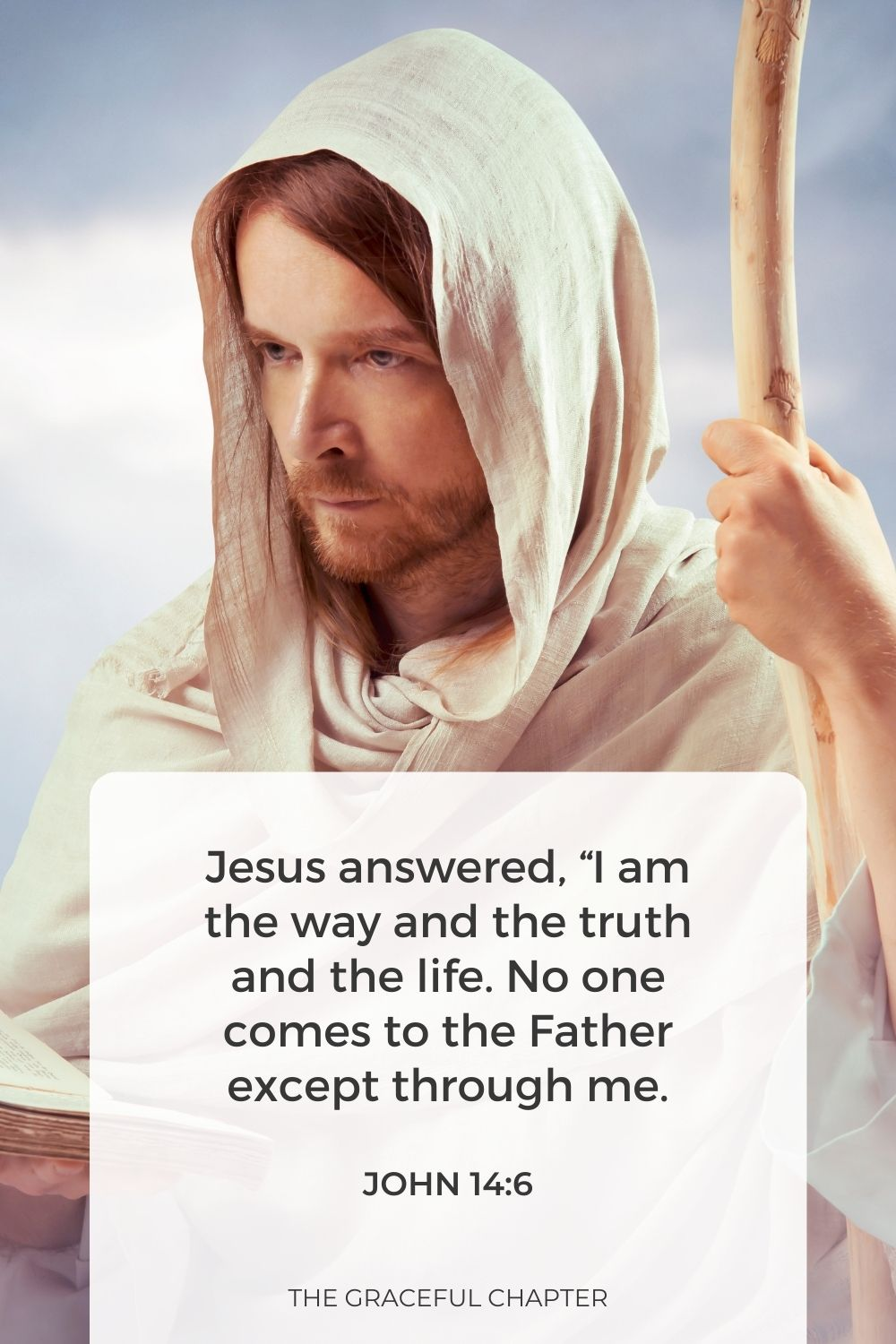 """Jesus answered, """"I am the way and the truth and the life. No one comes to the Father except through me. John 14:6"""