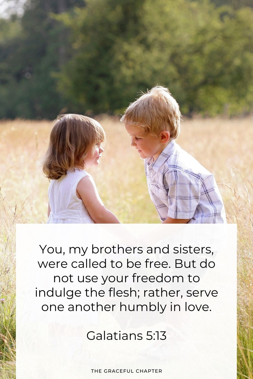 You, my brothers and sisters, were called to be free. But do not use your freedom to indulge the flesh; rather, serve one another humbly in love. Galatians 5:13