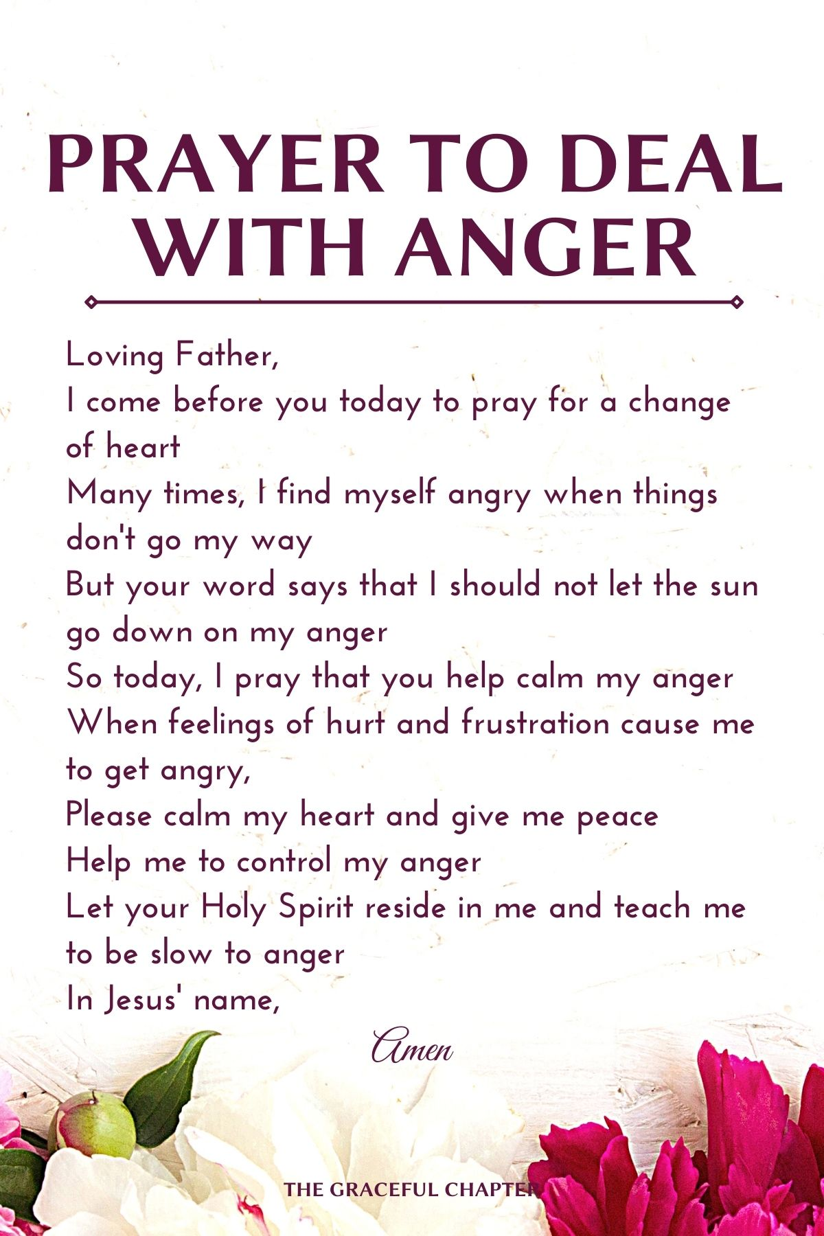 prayer to deal with anger