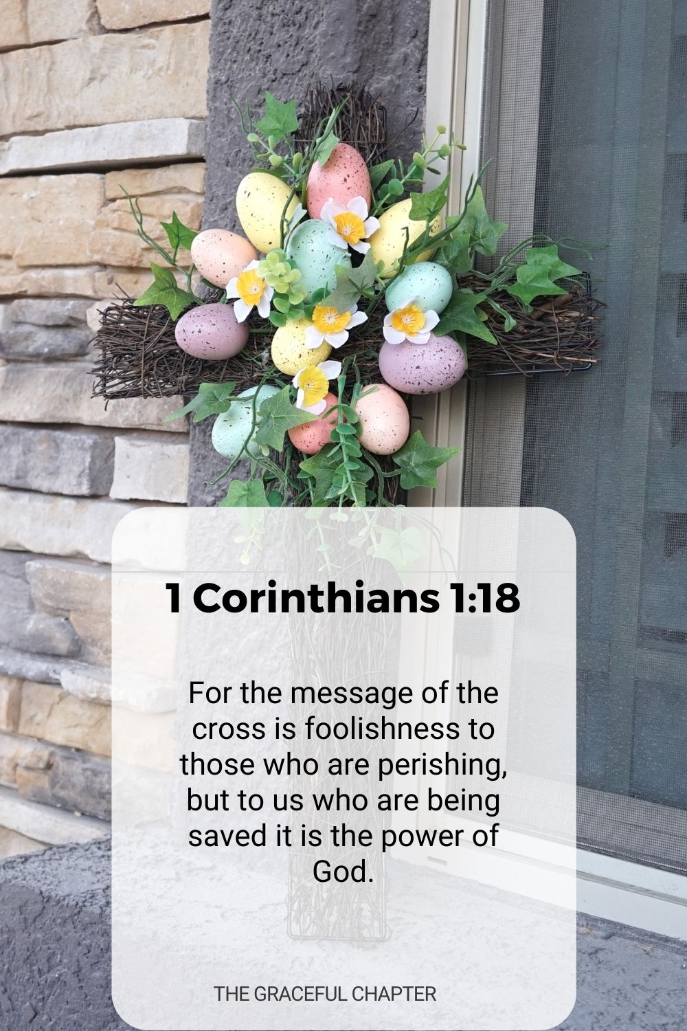 For the message of the cross is foolishness to those who are perishing, but to us who are being saved it is the power of God. 1 Corinthians 1:18