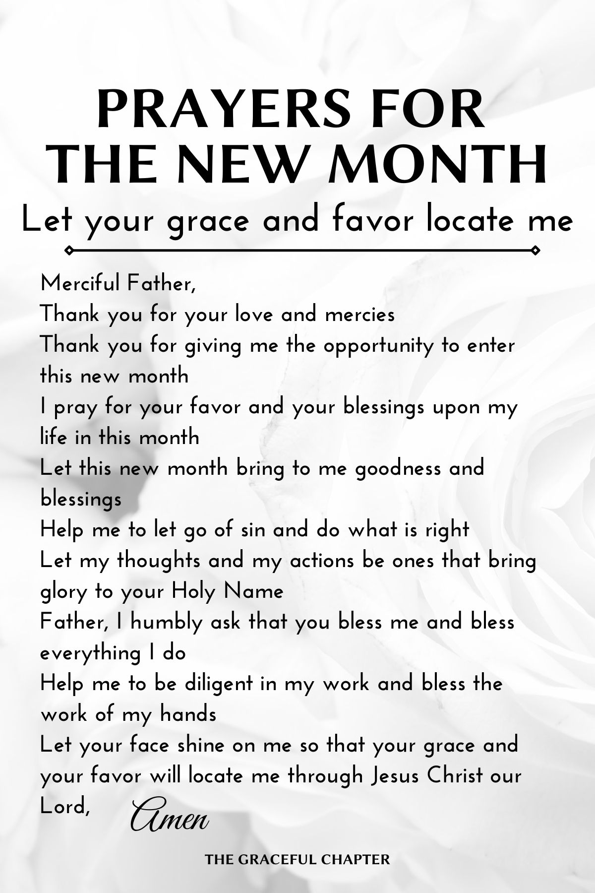 Prayers for the new month - Let your grace and favor locate me