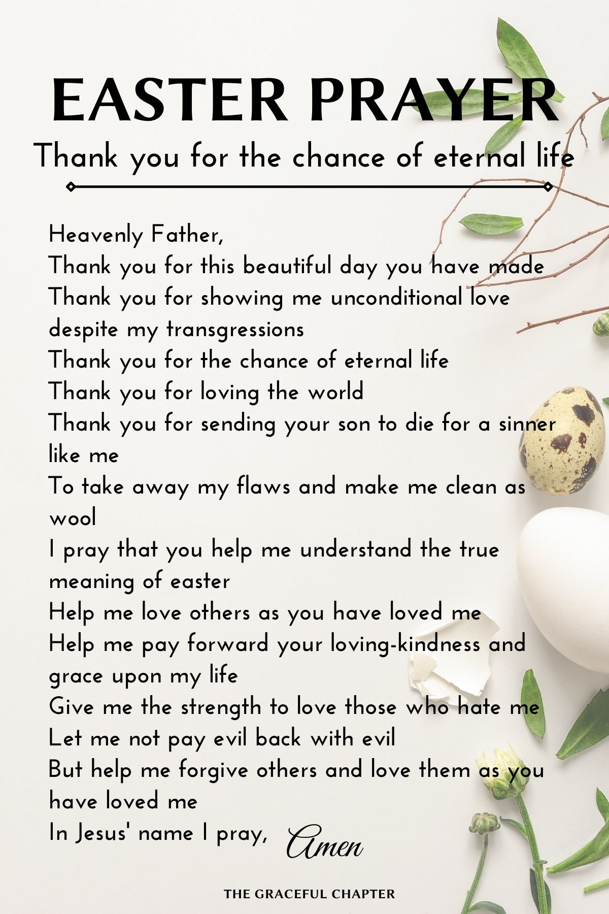 thank you for the chance of eternal life