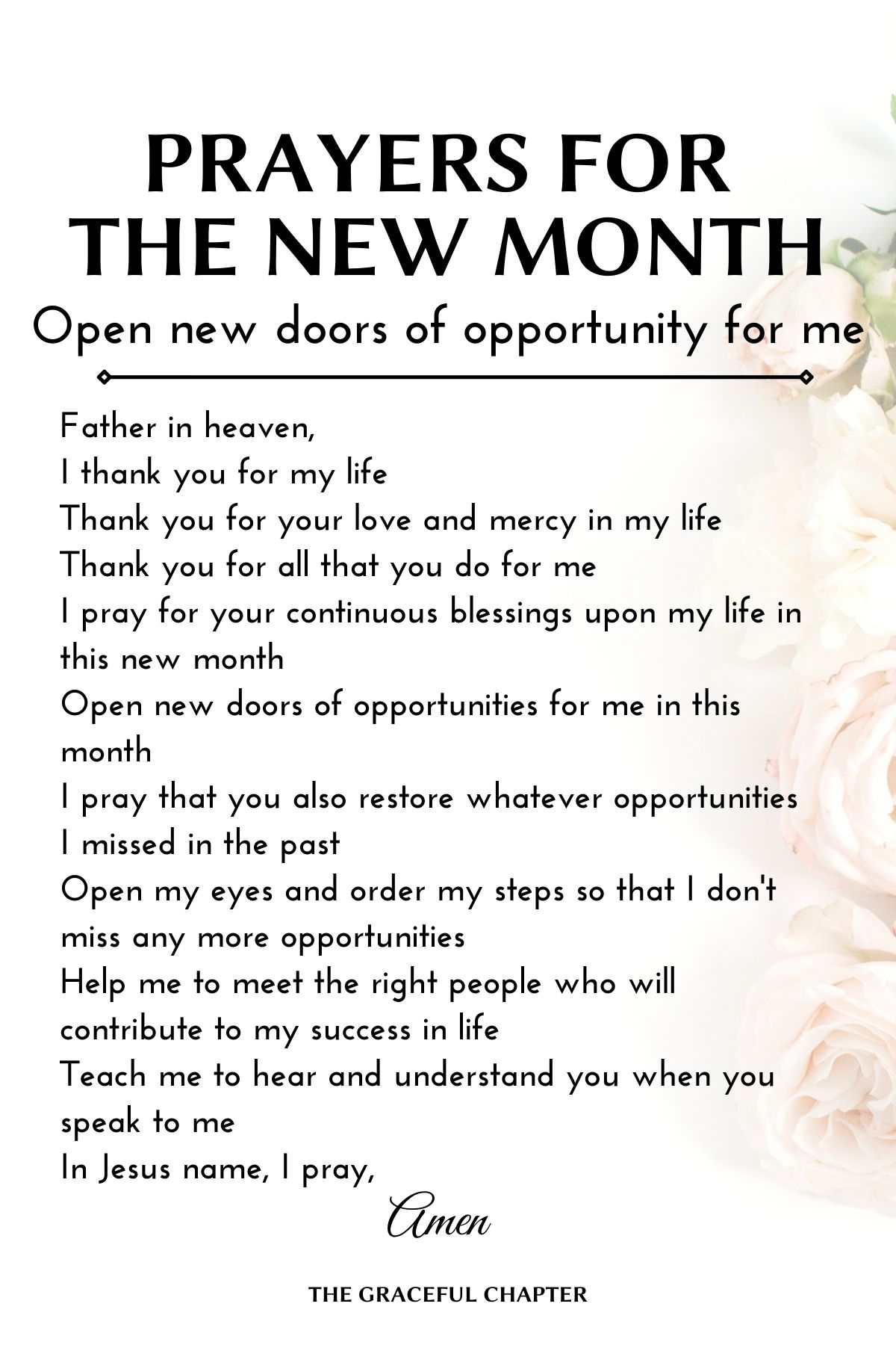 Open new doors of opportunity for me