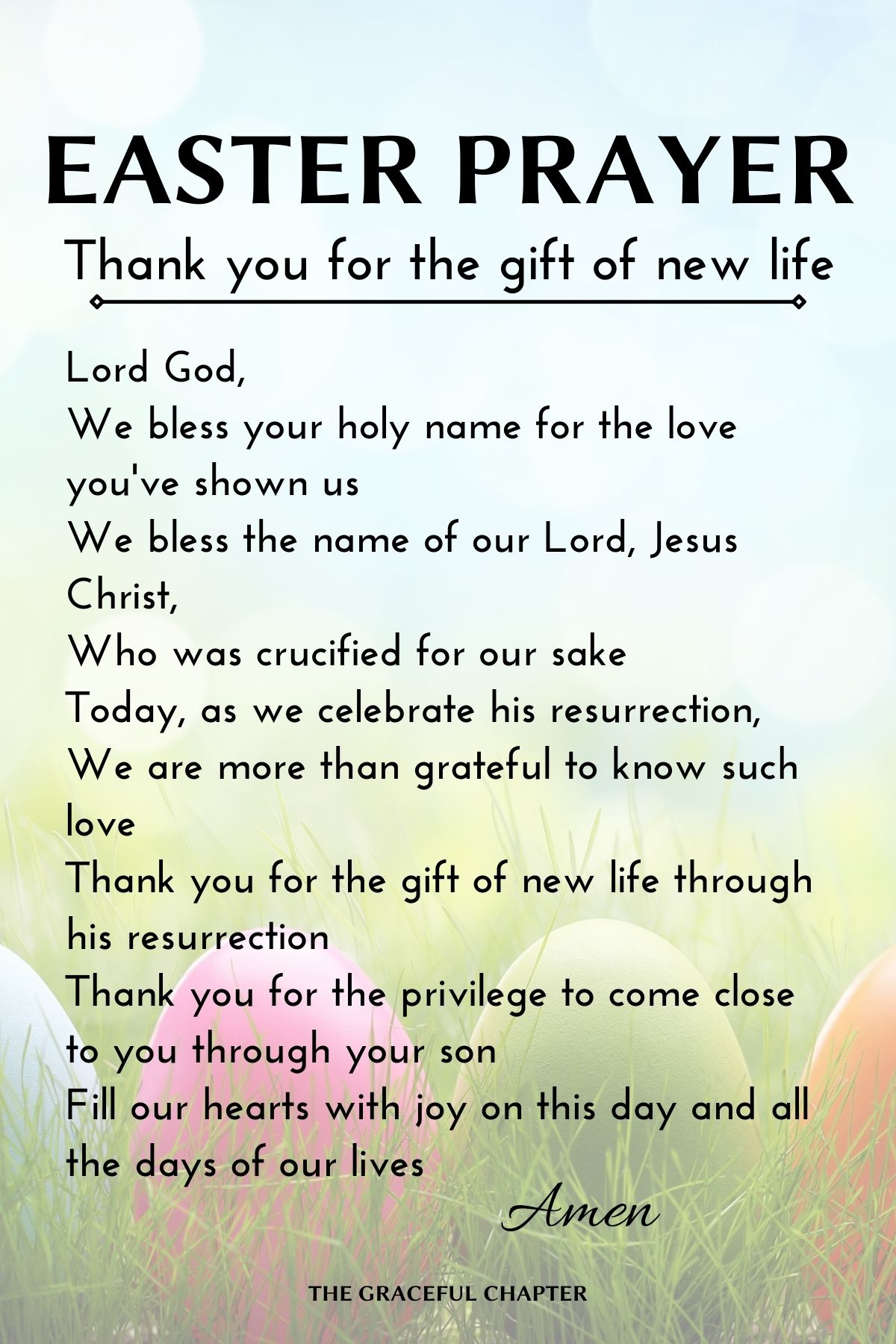easter prayer - thank you for the gift of new life