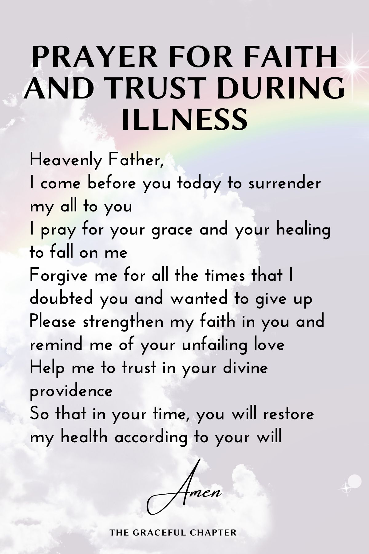 Prayer for faith and trust during illness