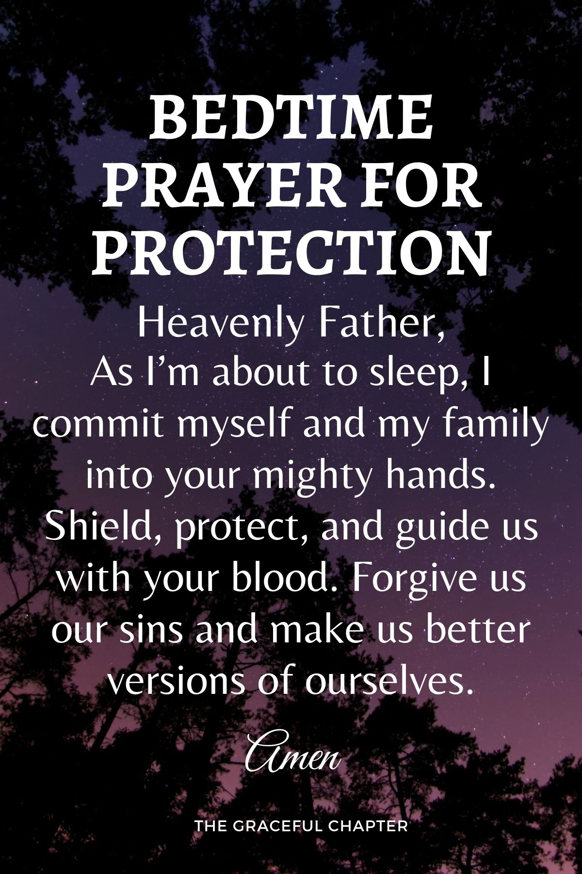 Bedtime prayer for protection