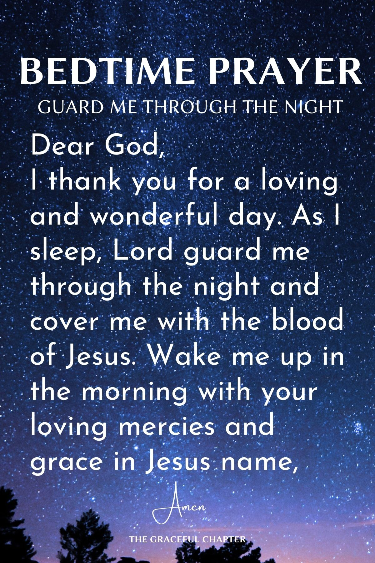 Guard me through the night