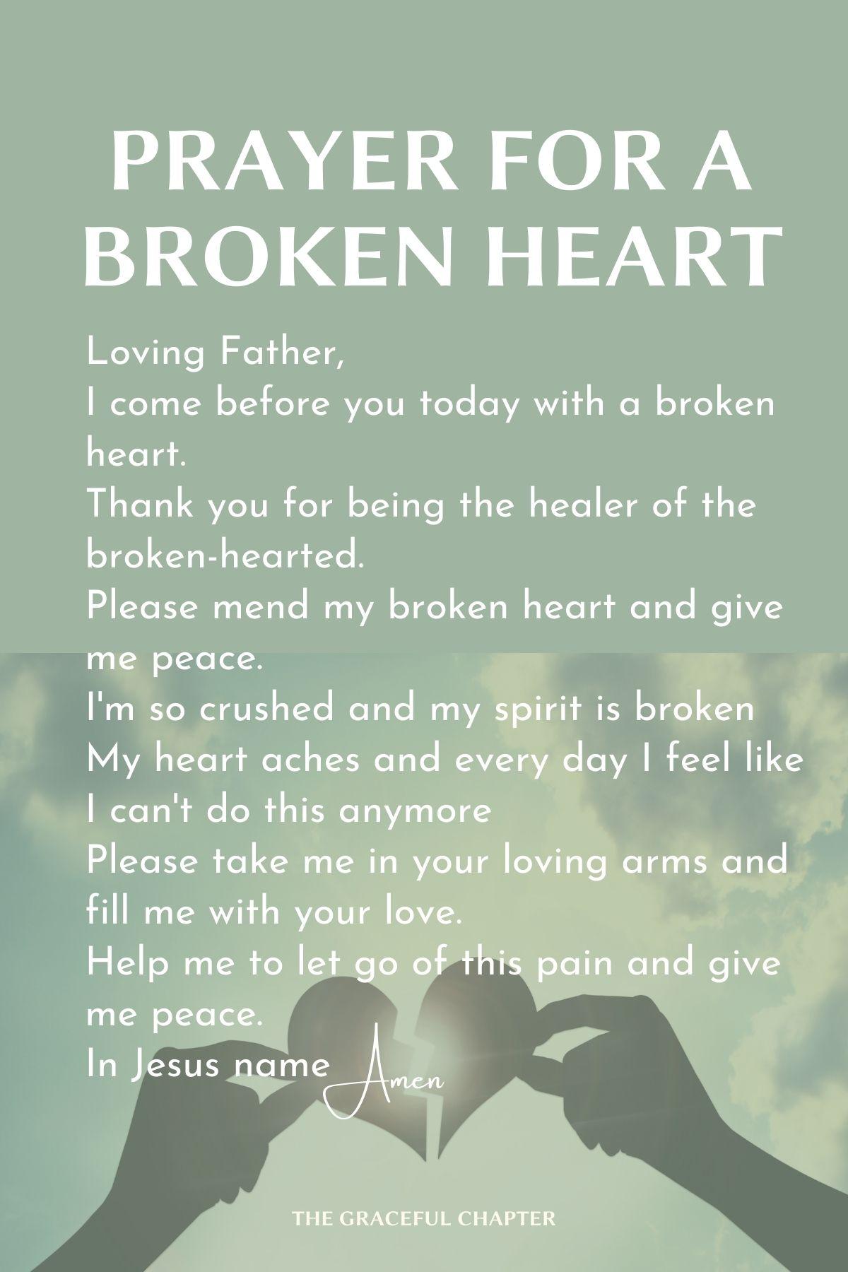 Prayer for a broken heart
