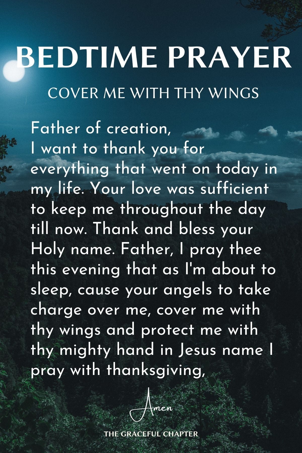 Cover me with thy wings
