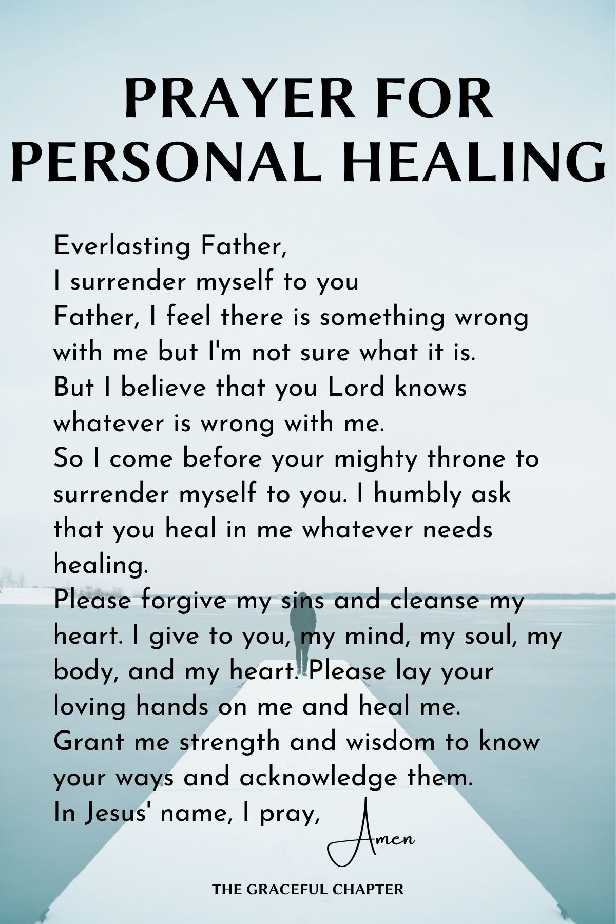Prayer for personal healing