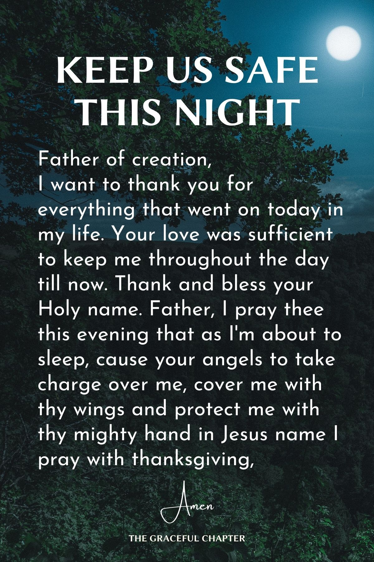 Keep us safe this night