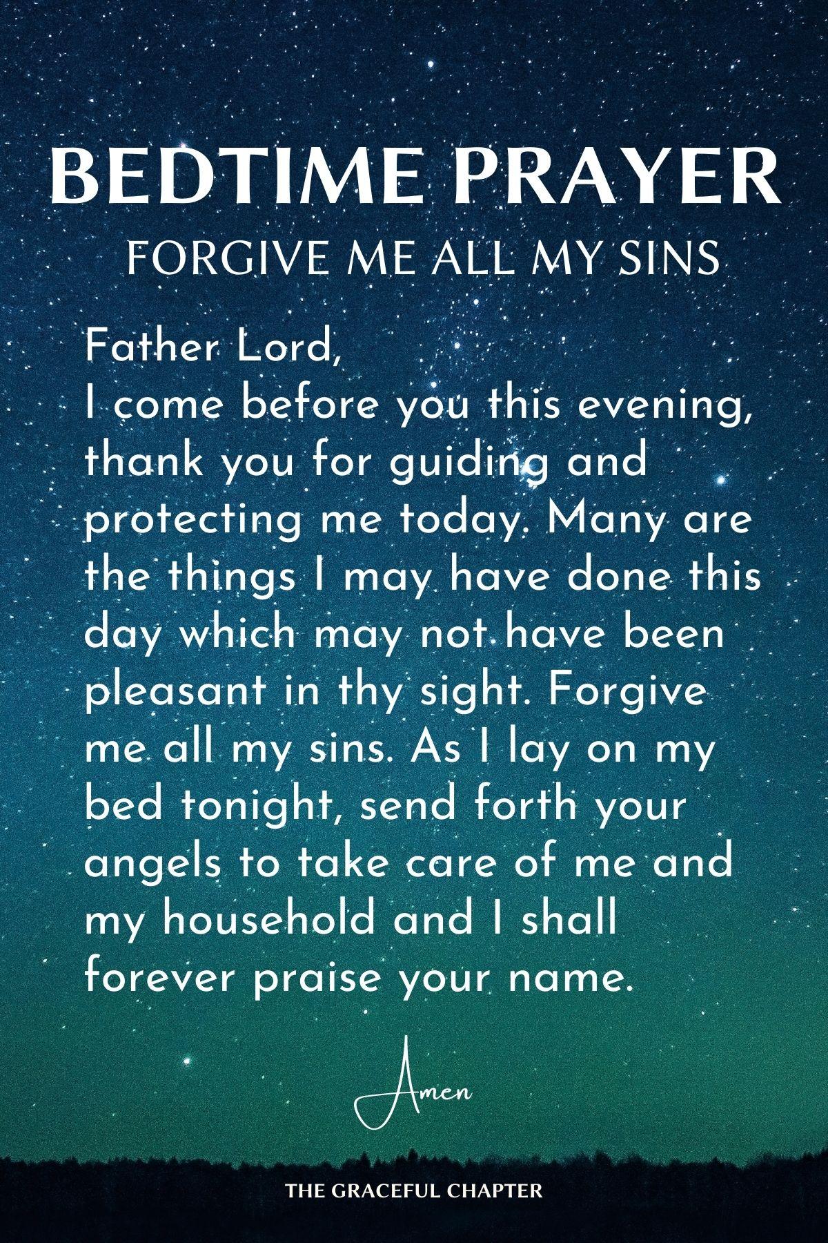 Forgive me all my sins