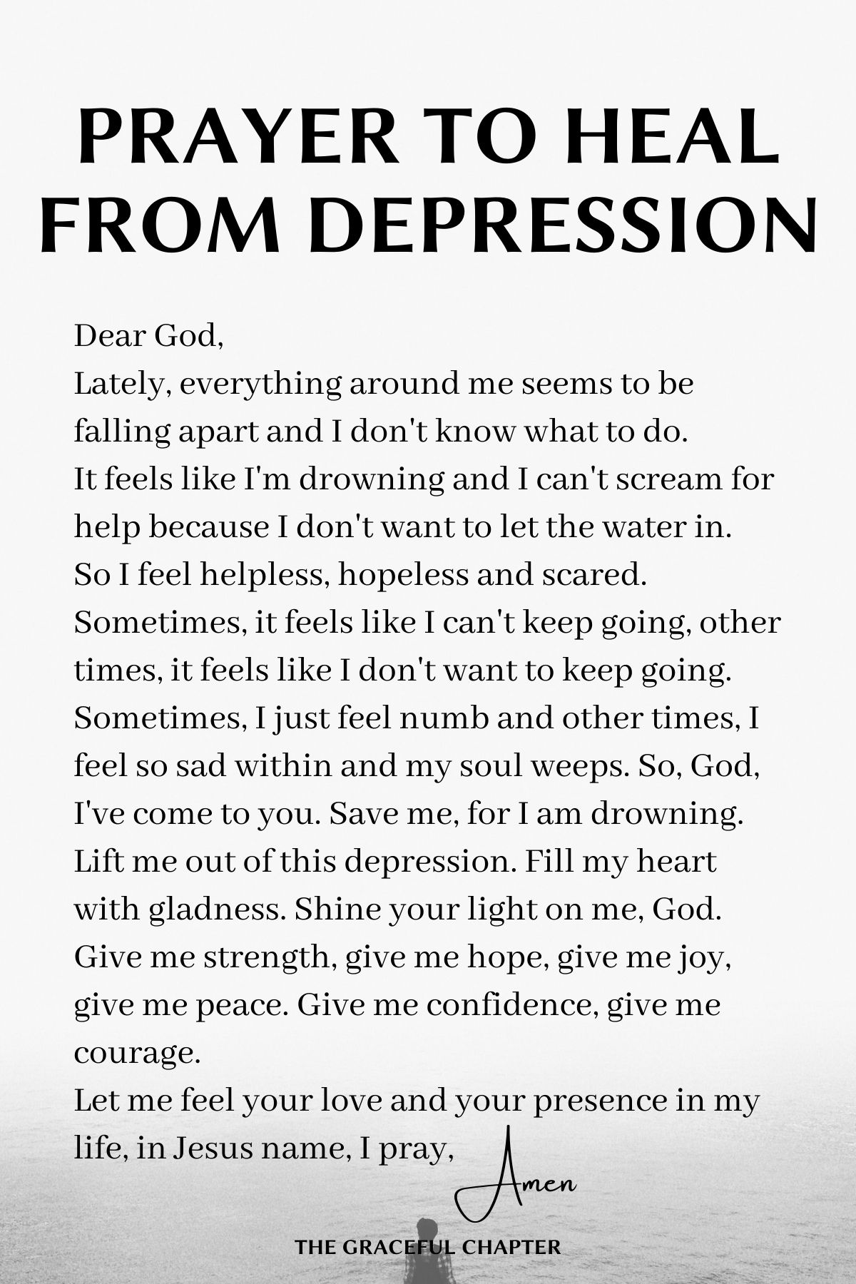Prayer to heal from depression