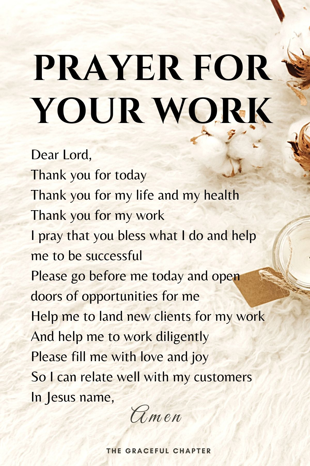 Prayer for your work