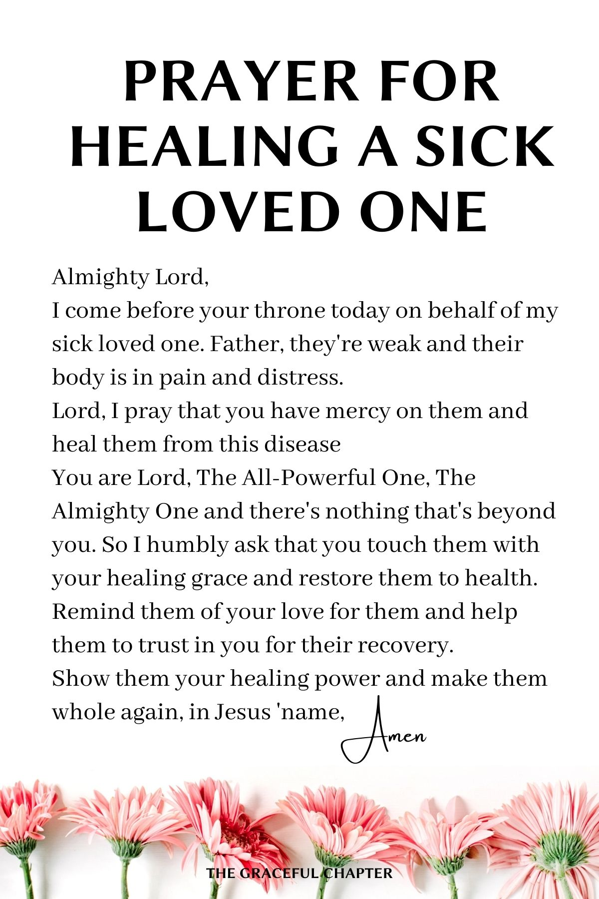 Prayers for healing a sick loved one