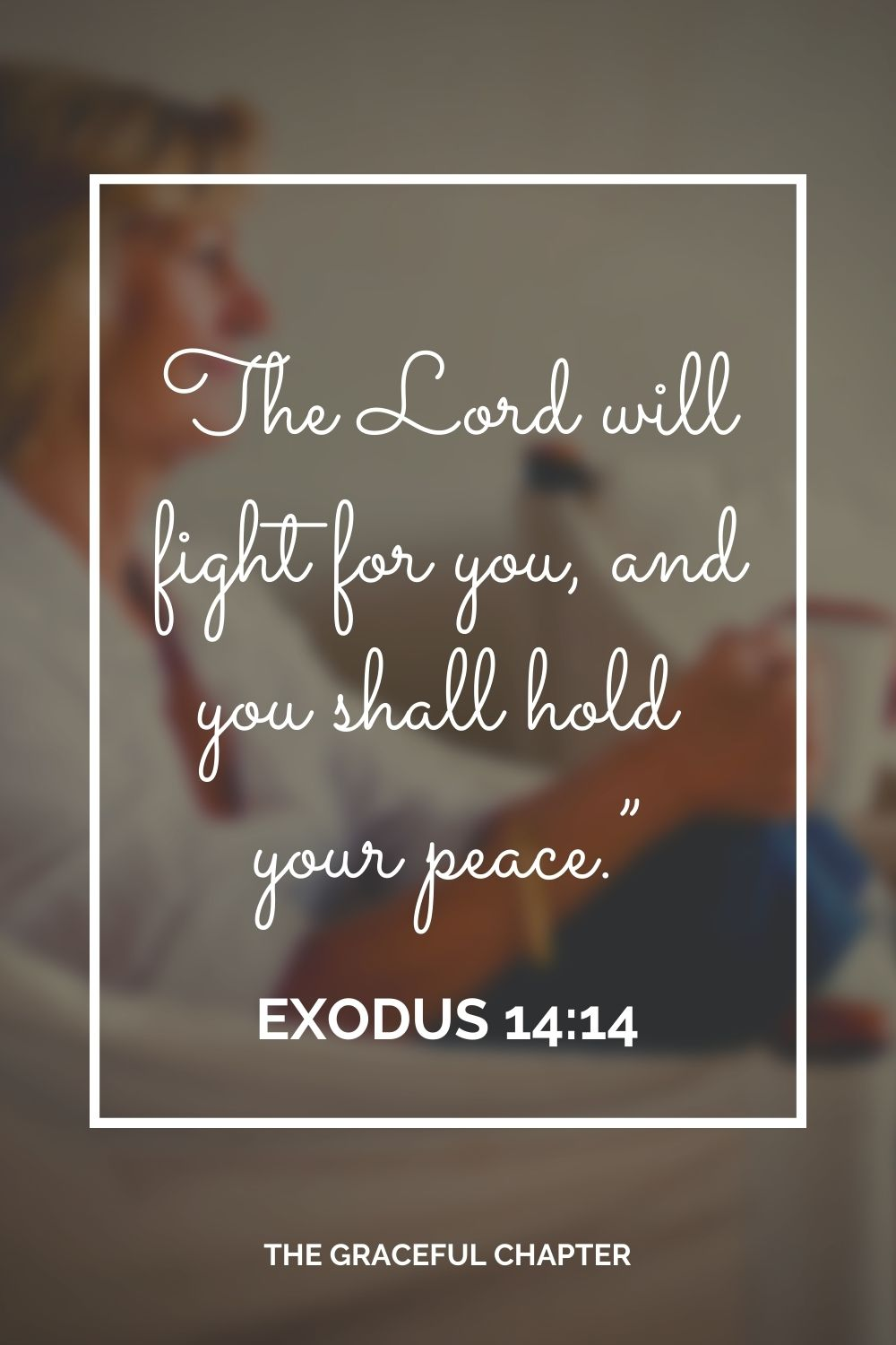 """The Lord will fight for you, and you shall hold your peace."""" Exodus 14:14"""