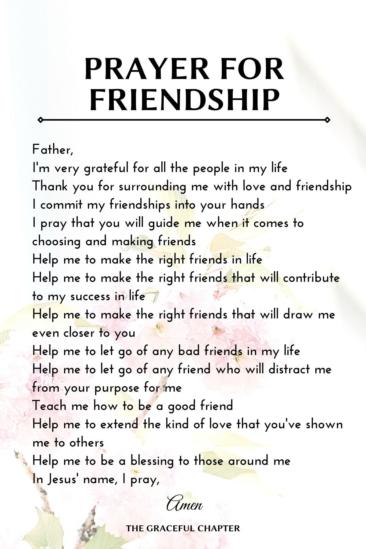 prayer for friendship
