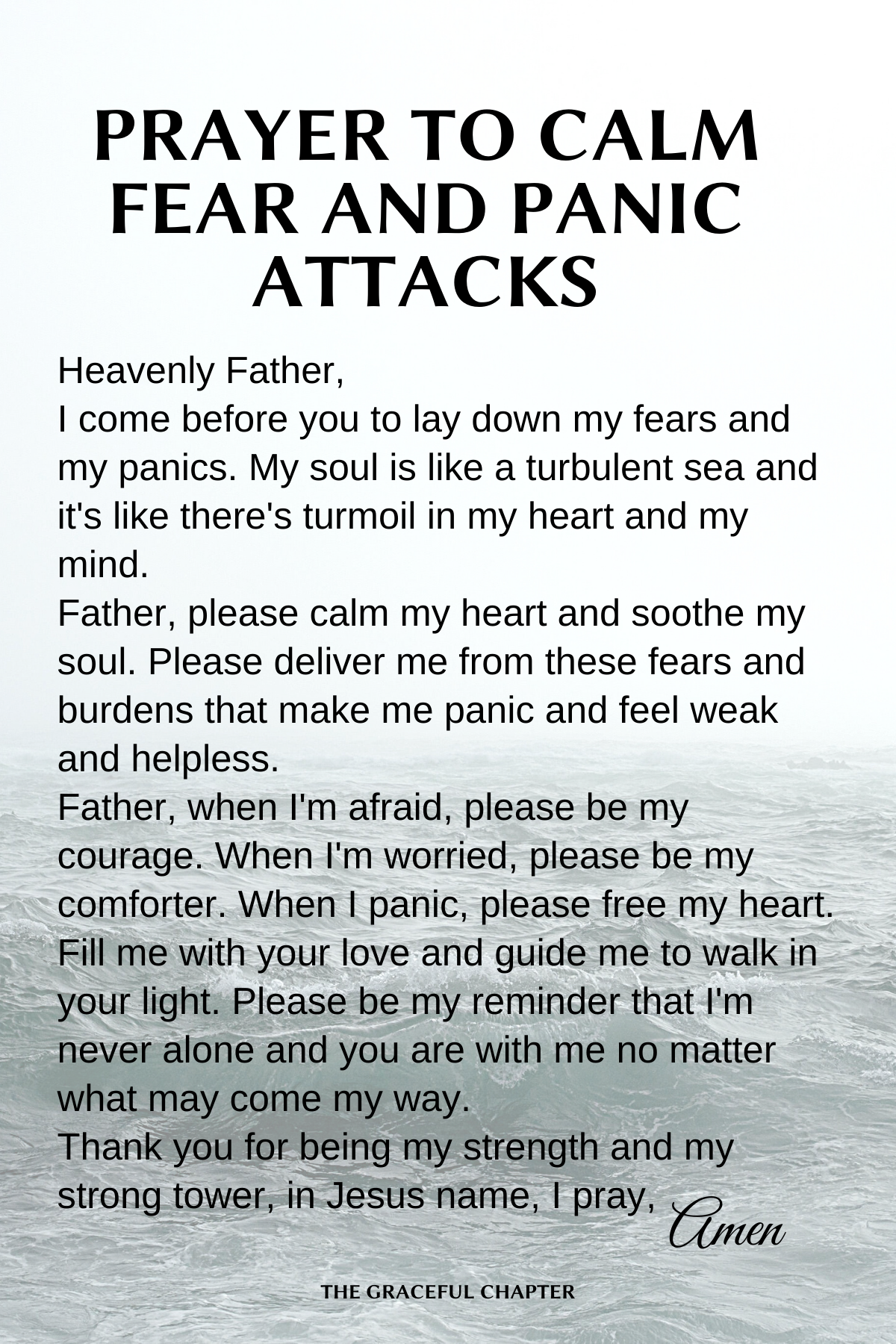 Prayer to calm fear and panic attacks