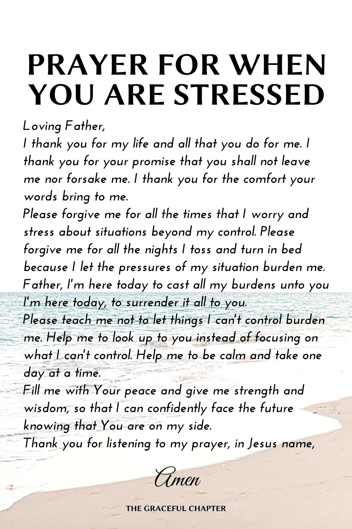 Prayer for when you are stressed