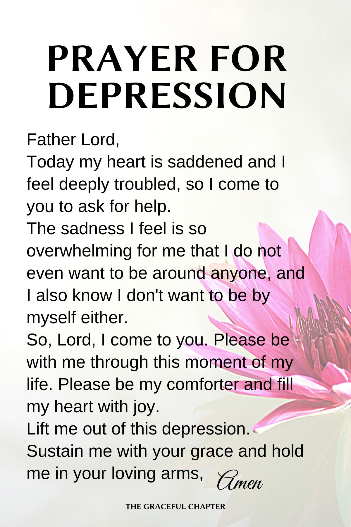 Prayer for depression