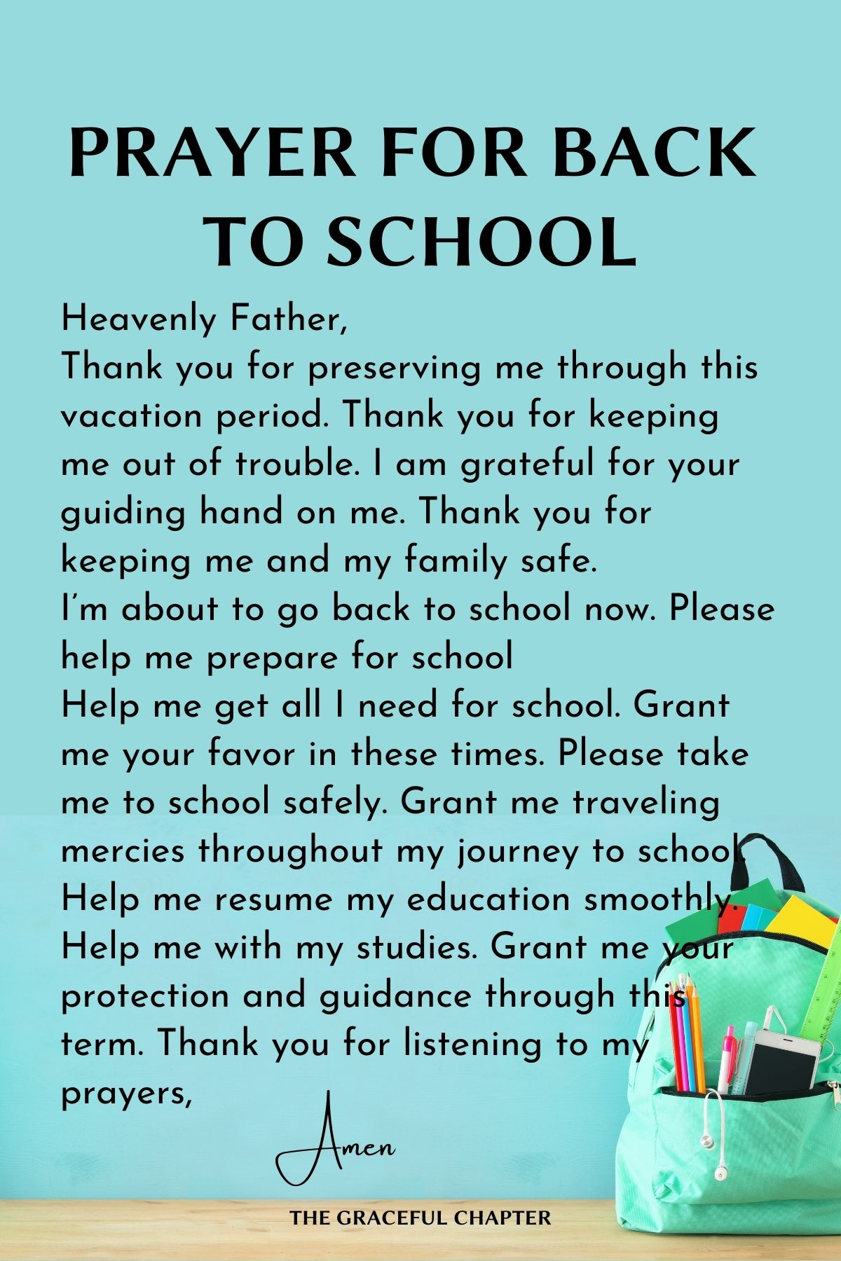 Prayer for back to school