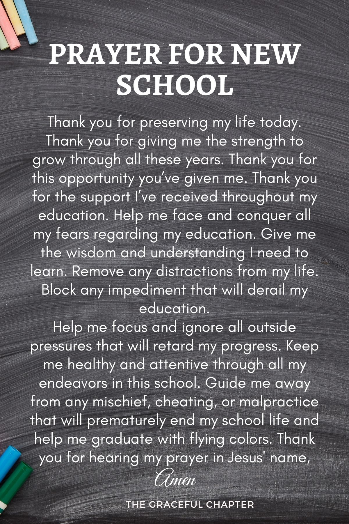Prayer for new school
