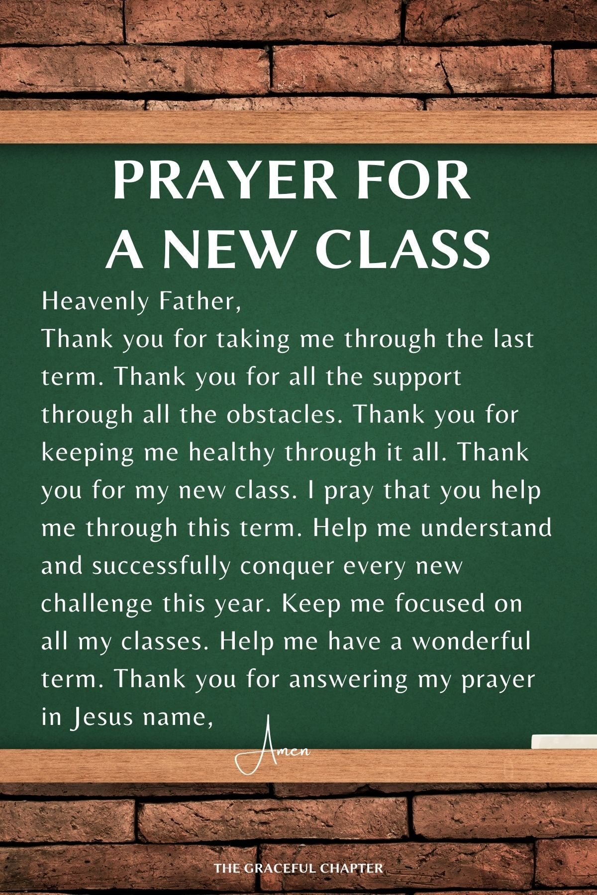 Prayers for school - Prayer for a new class