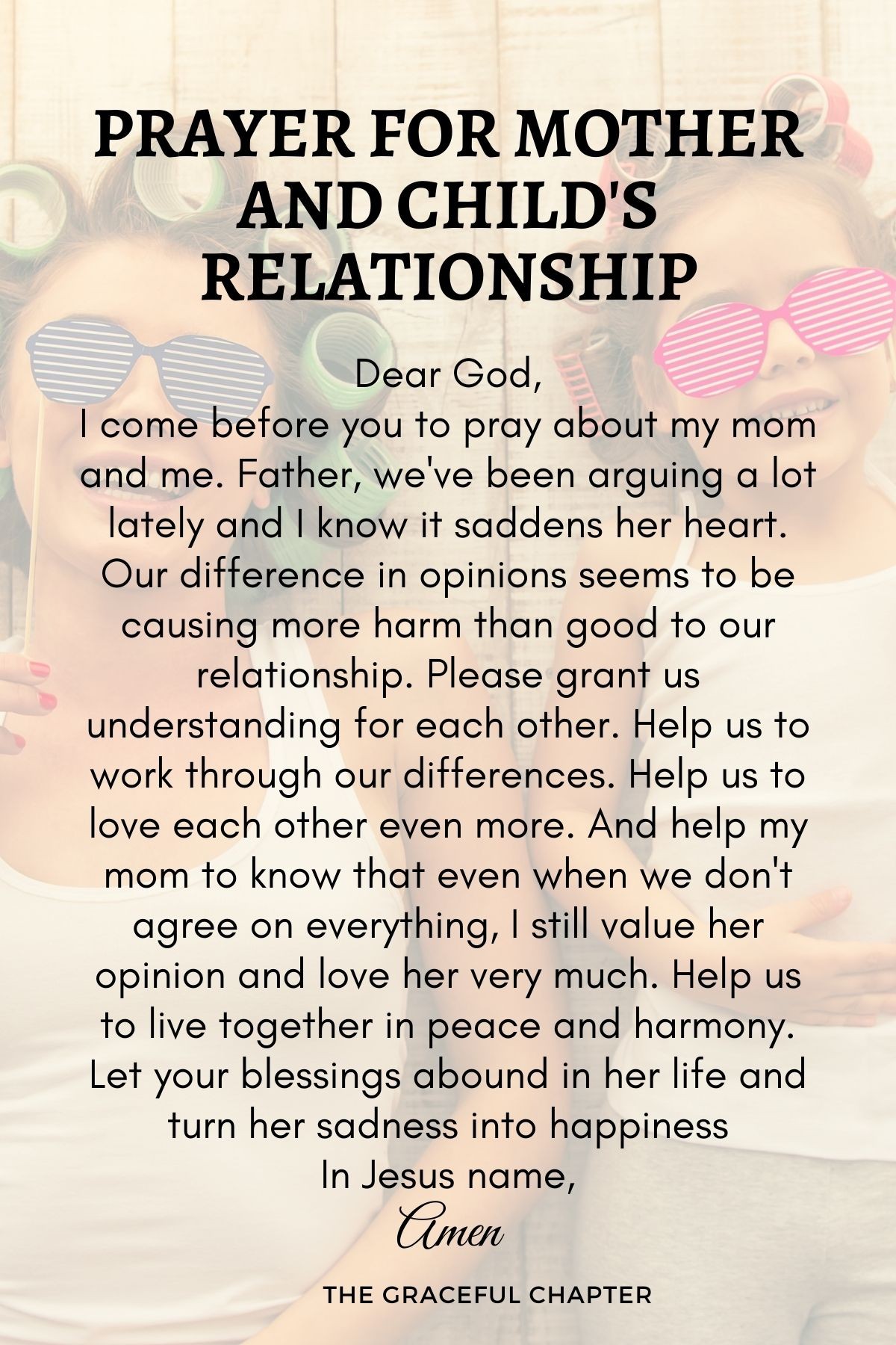 Prayer for mother and child's relationship