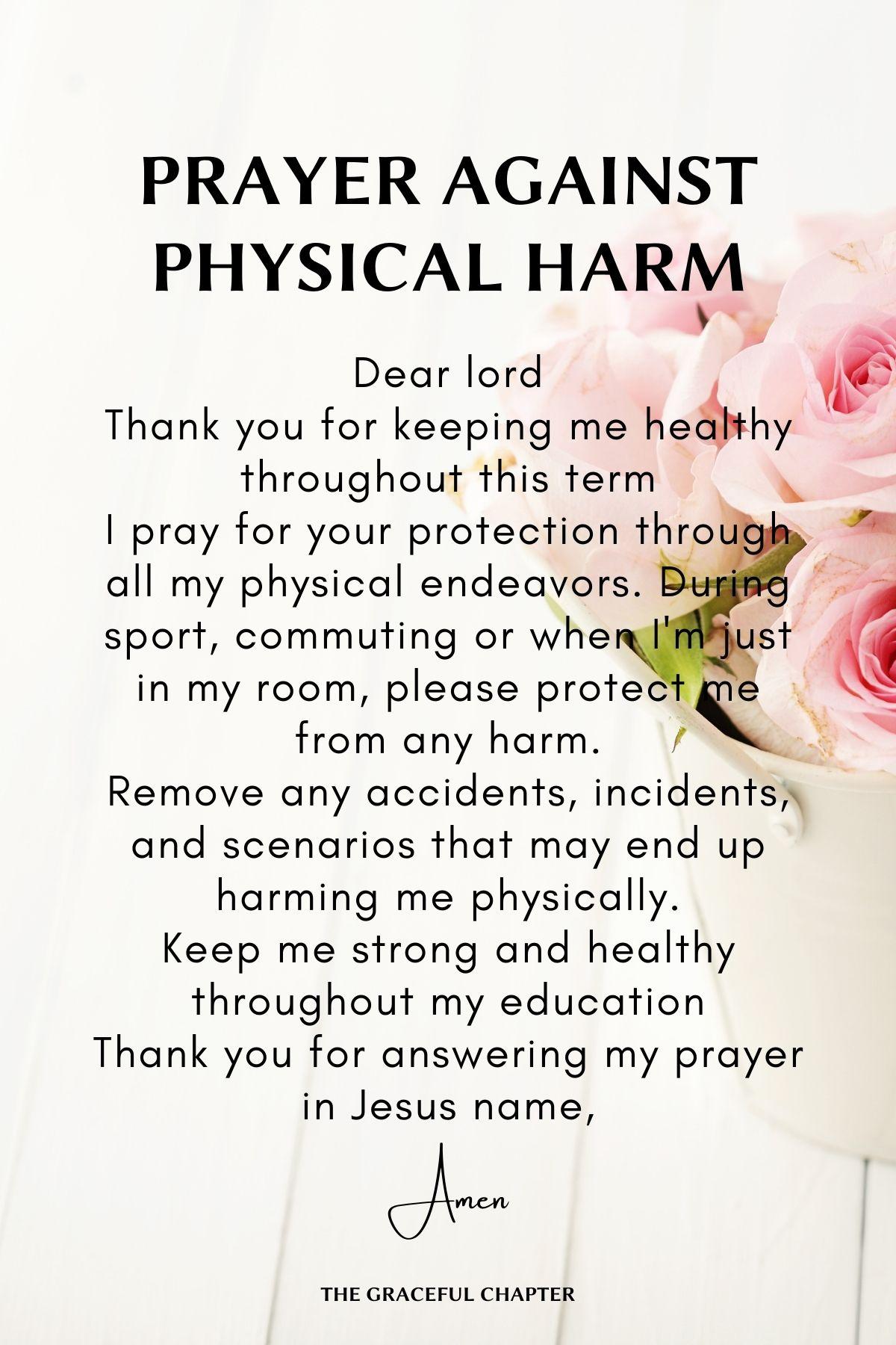 Prayer against physical harm