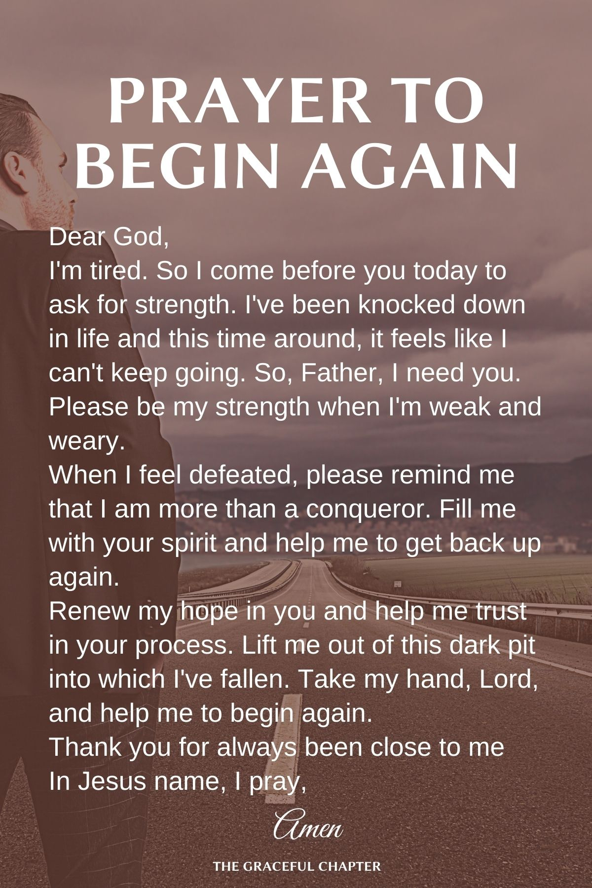 Prayer to begin again
