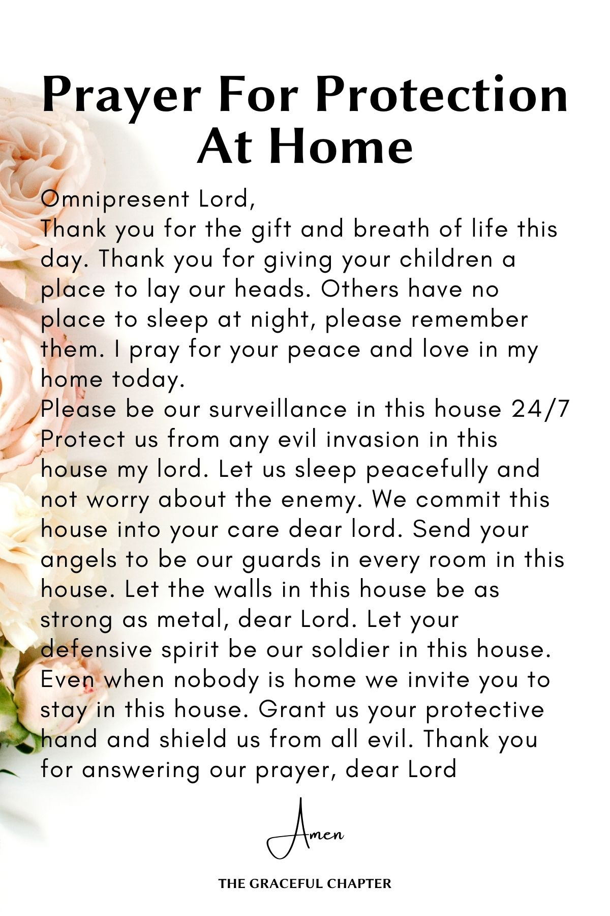 Prayer for Protection at home