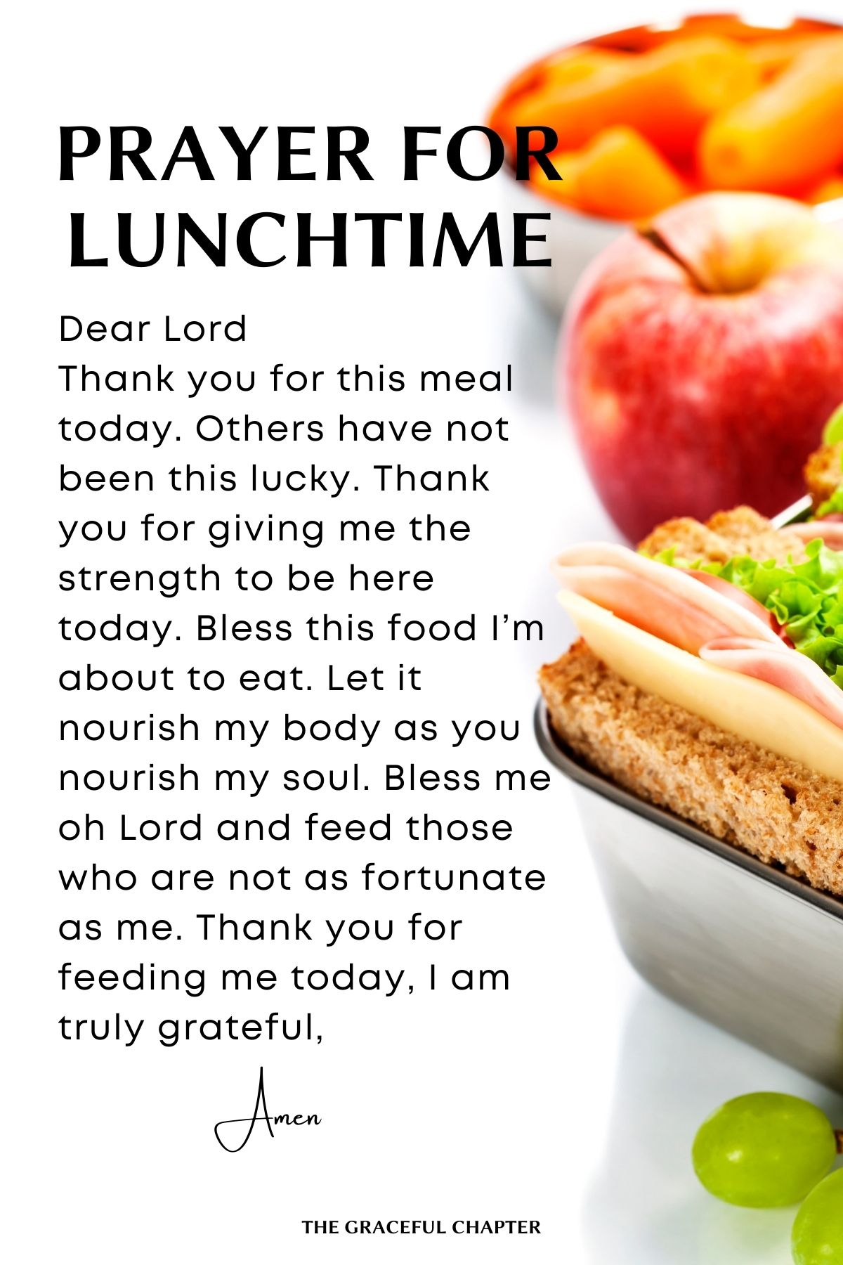 Prayer for lunchtime