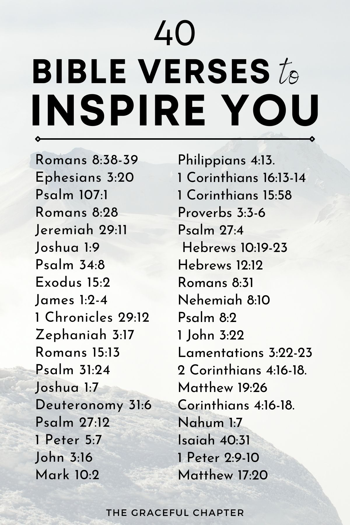 40 bible verses to inspire you