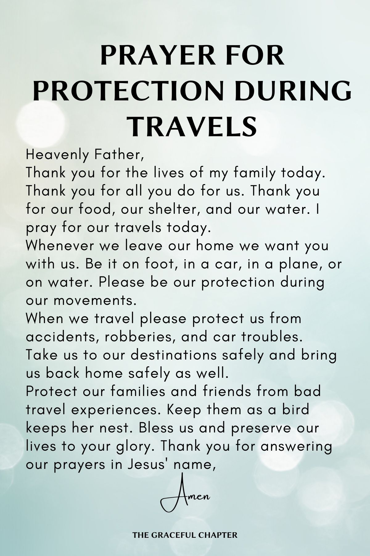 Protection during travels