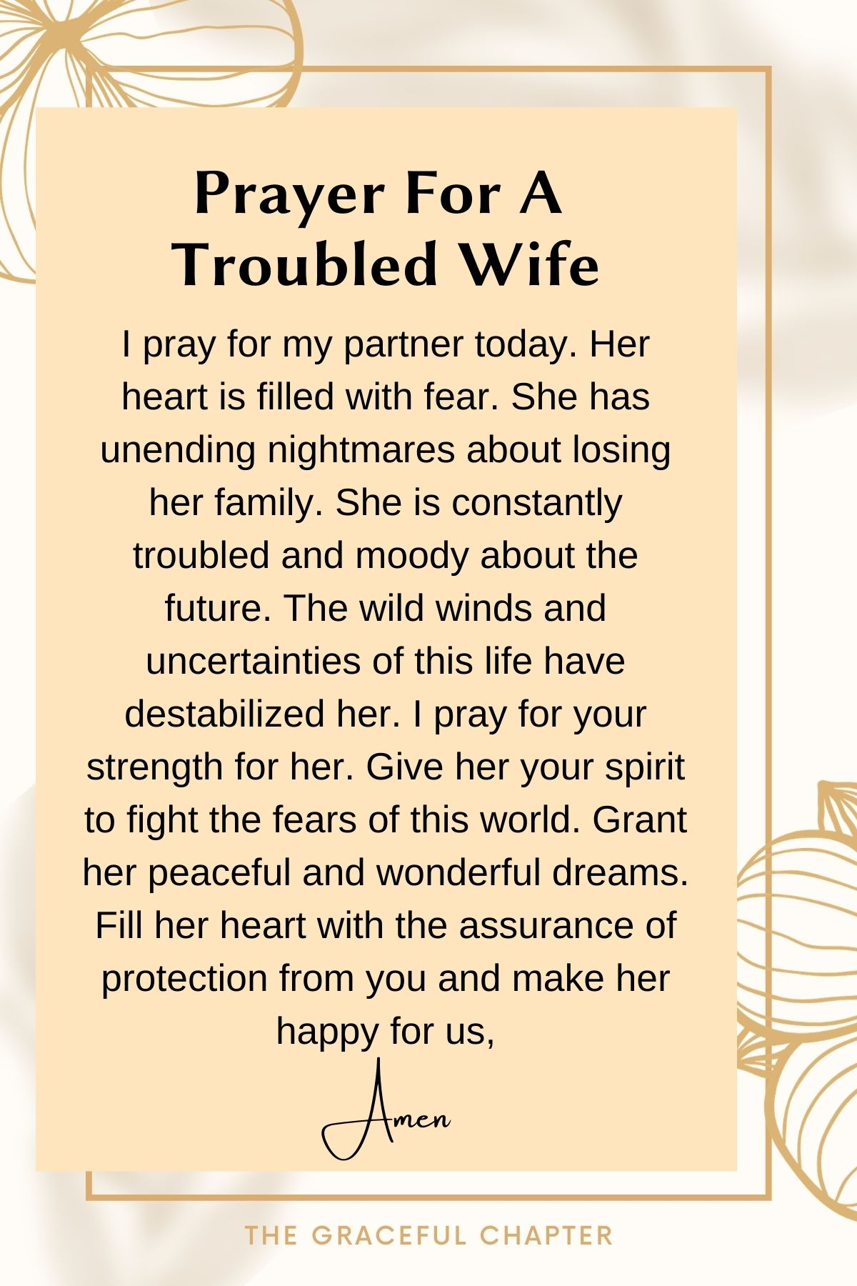 Prayer for a troubled wife
