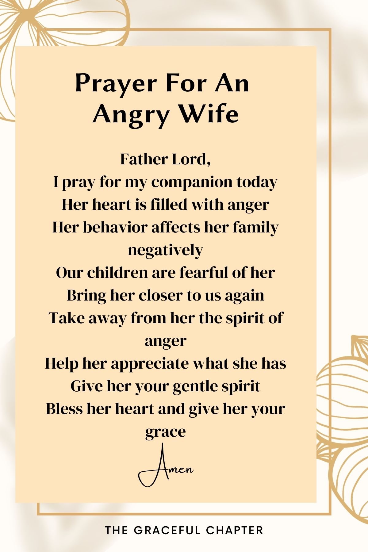 Prayer for an angry wife