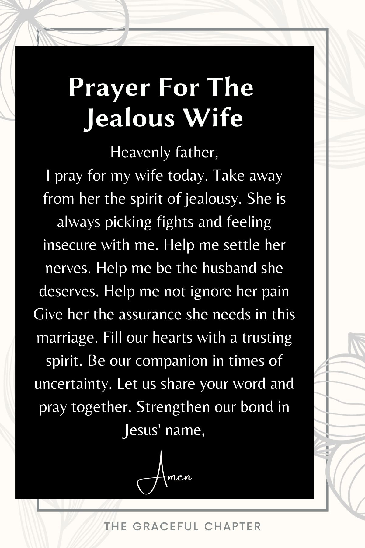 Prayer for the jealous wife