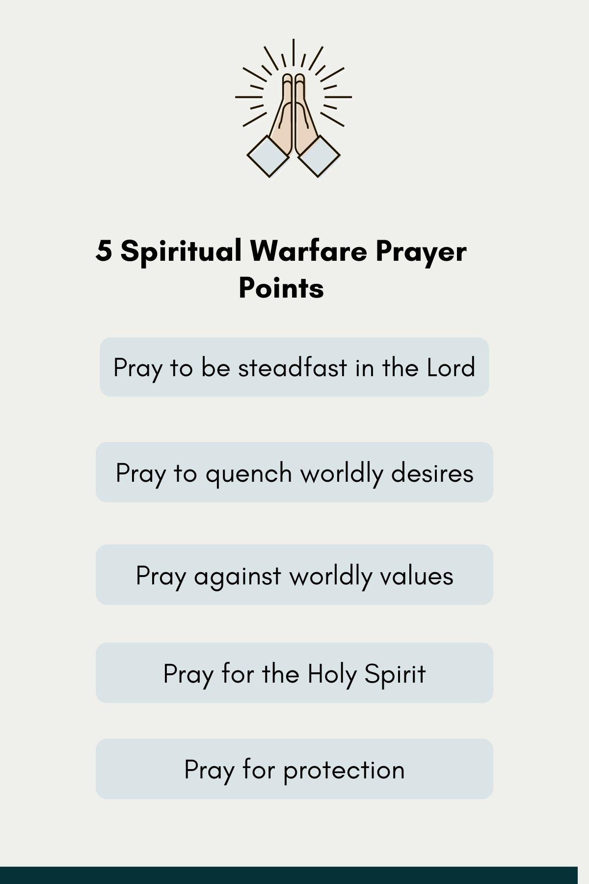 5 spiritual warfare prayer points