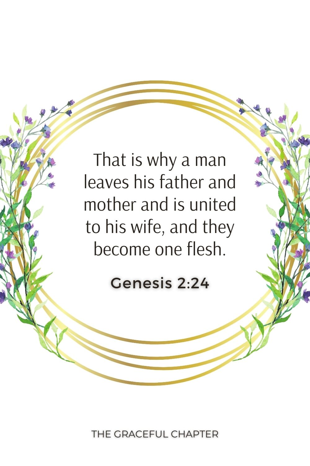 That is why a man leaves his father and mother and is united to his wife, and they become one flesh. Genesis 2:24