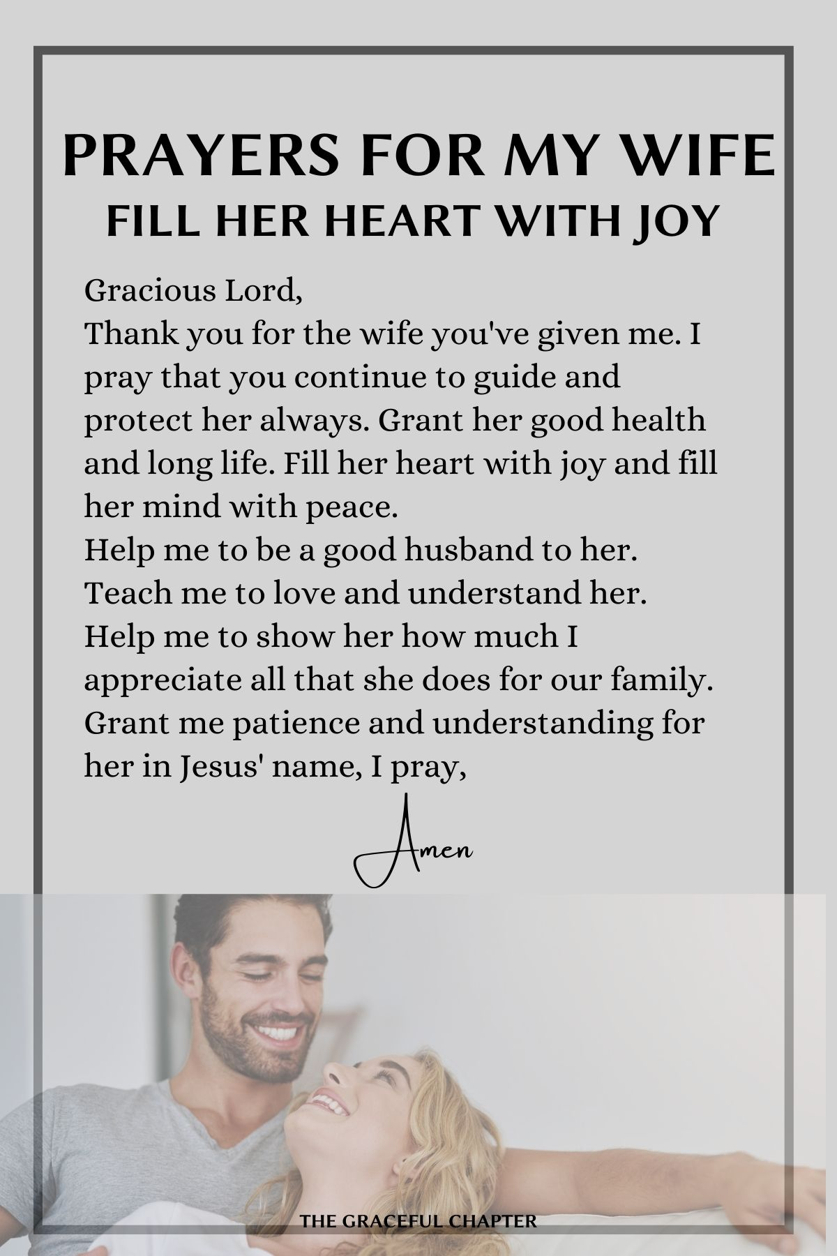 Prayers for your wife - Fill her heart with joy