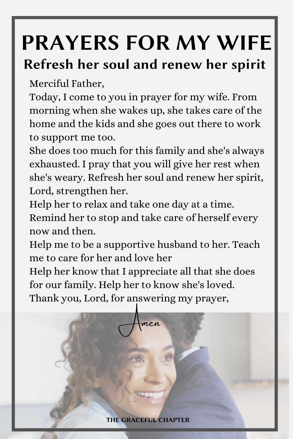 Prayers for your wife - Refresh her soul and renew her spirit