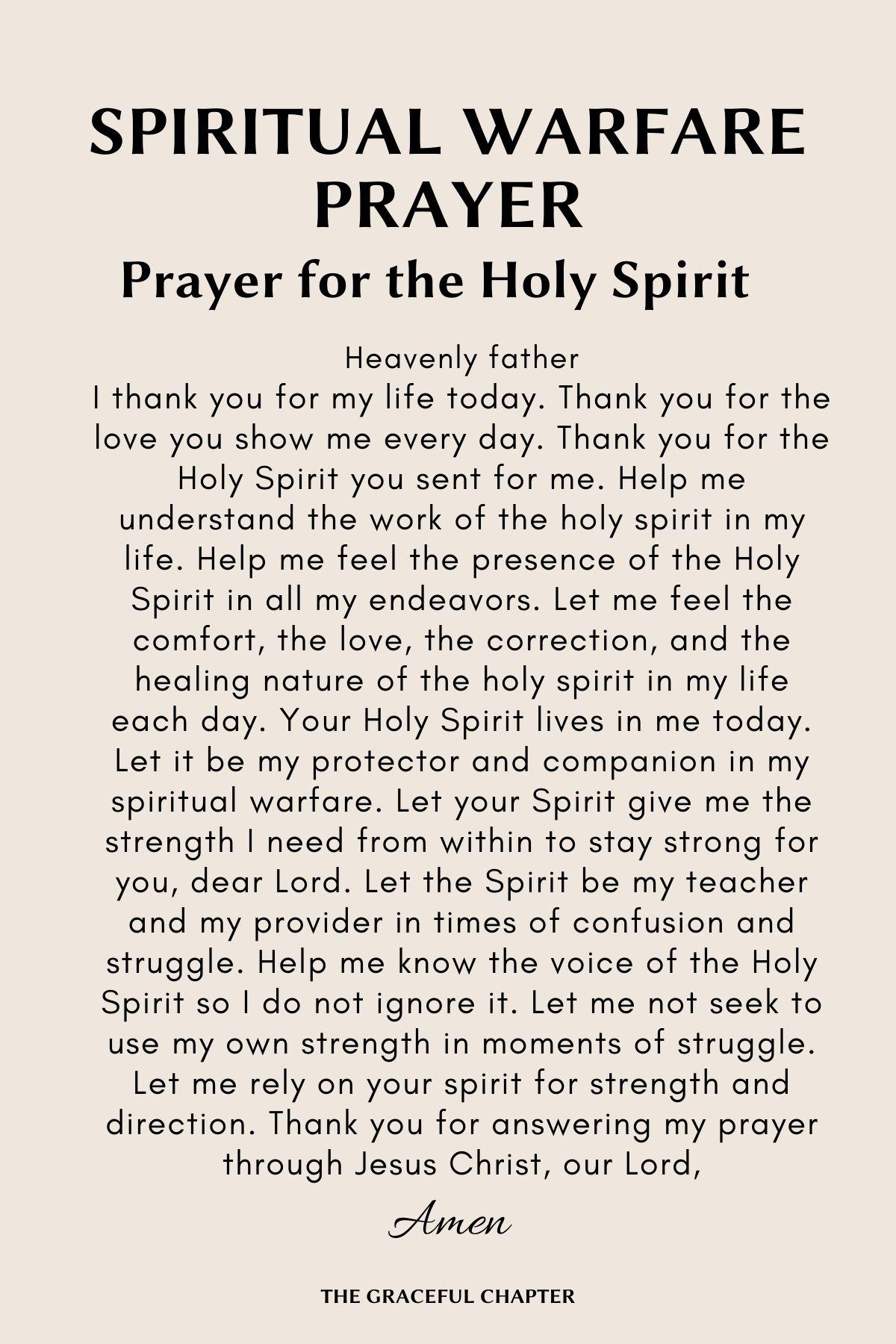 Prayer for the holy spirit