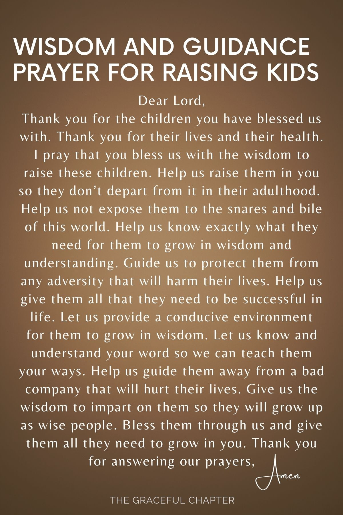 Wisdom and guidance for raising kids