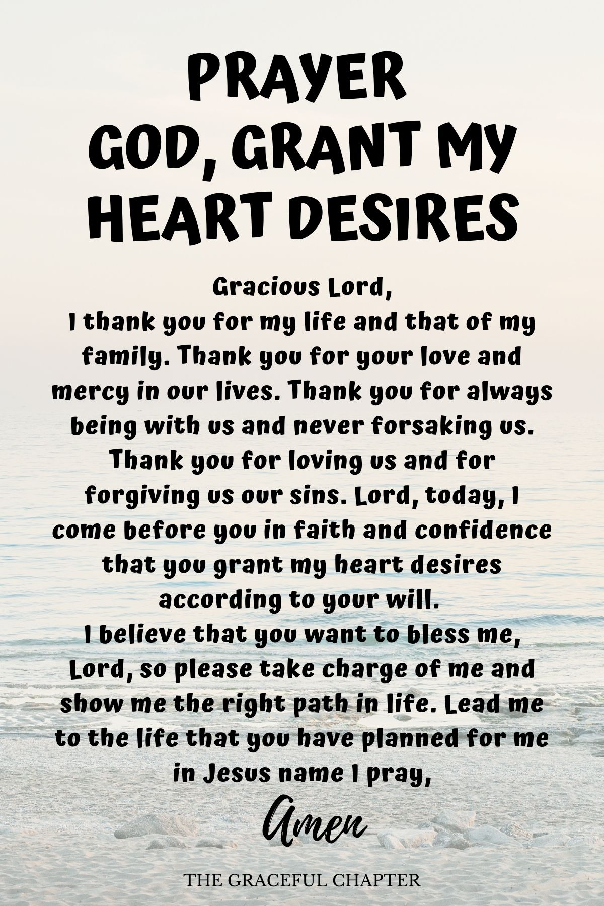 Prayer for my heart desires