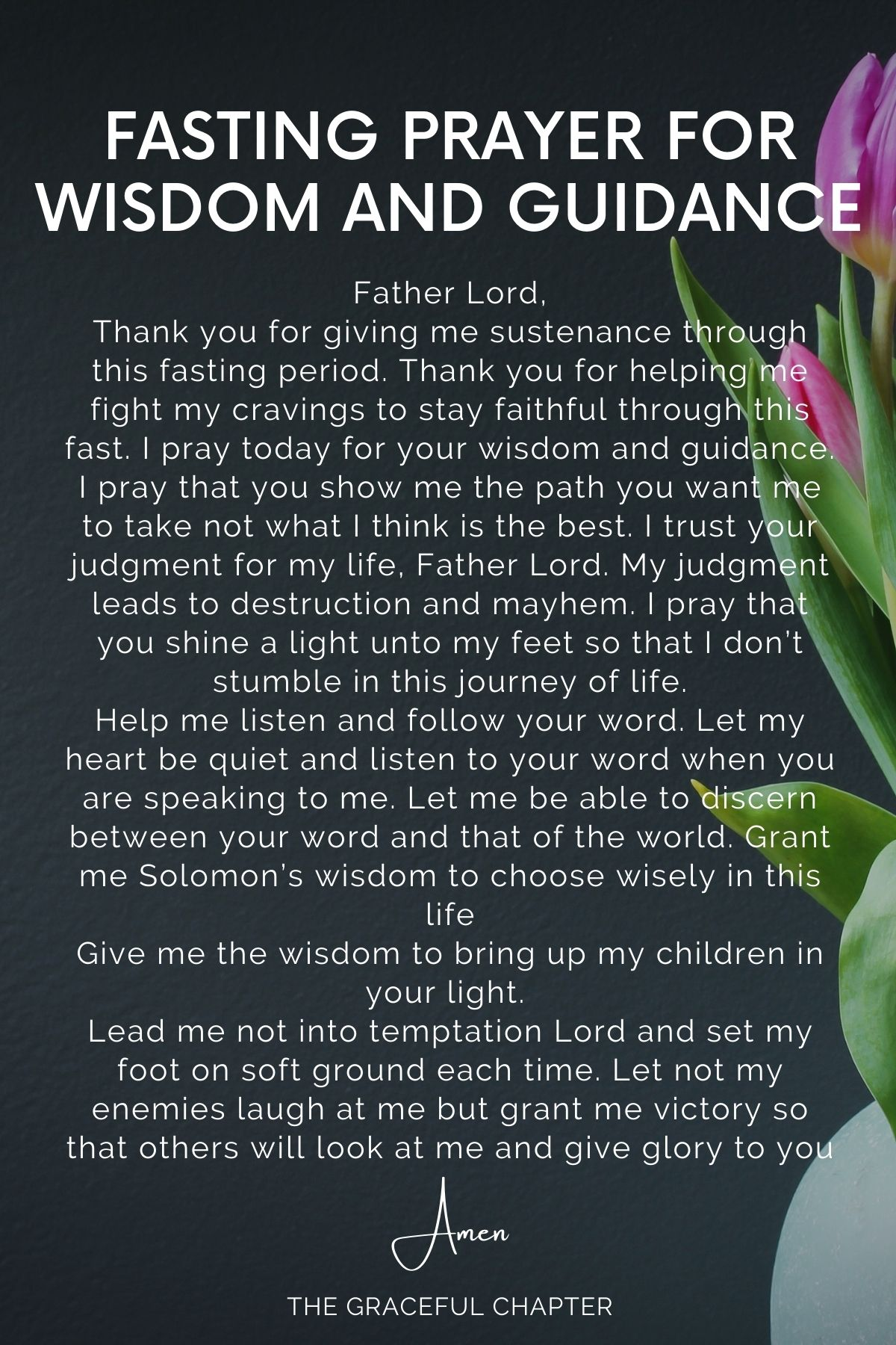 Fasting Prayer for wisdom and guidance
