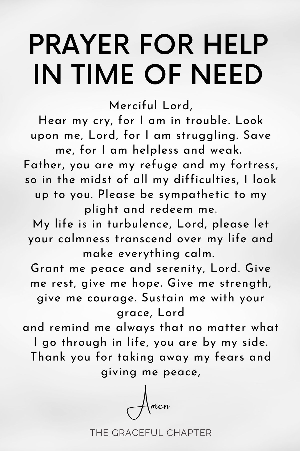 Prayer for help in time of need