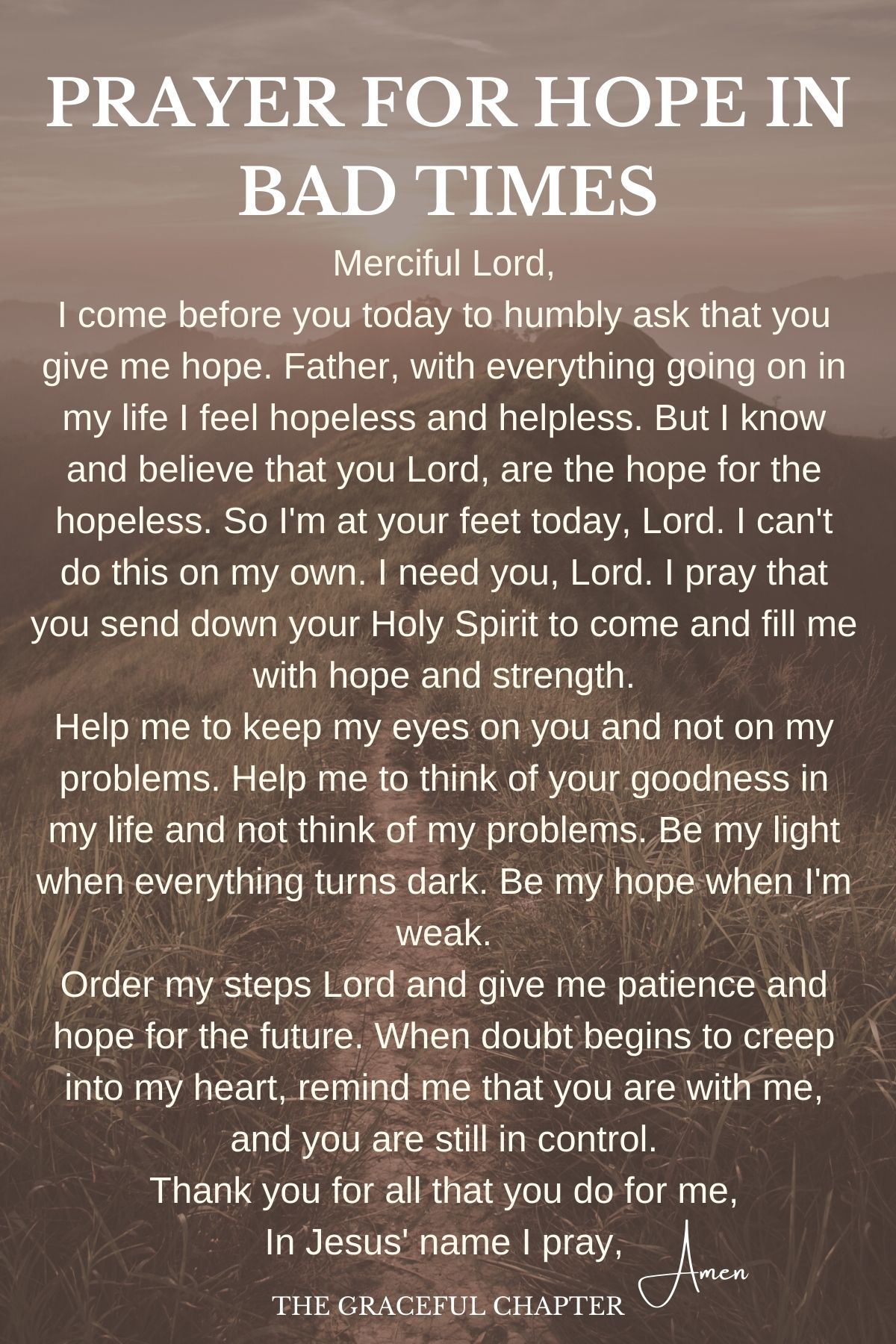 prayer for hope in bad times