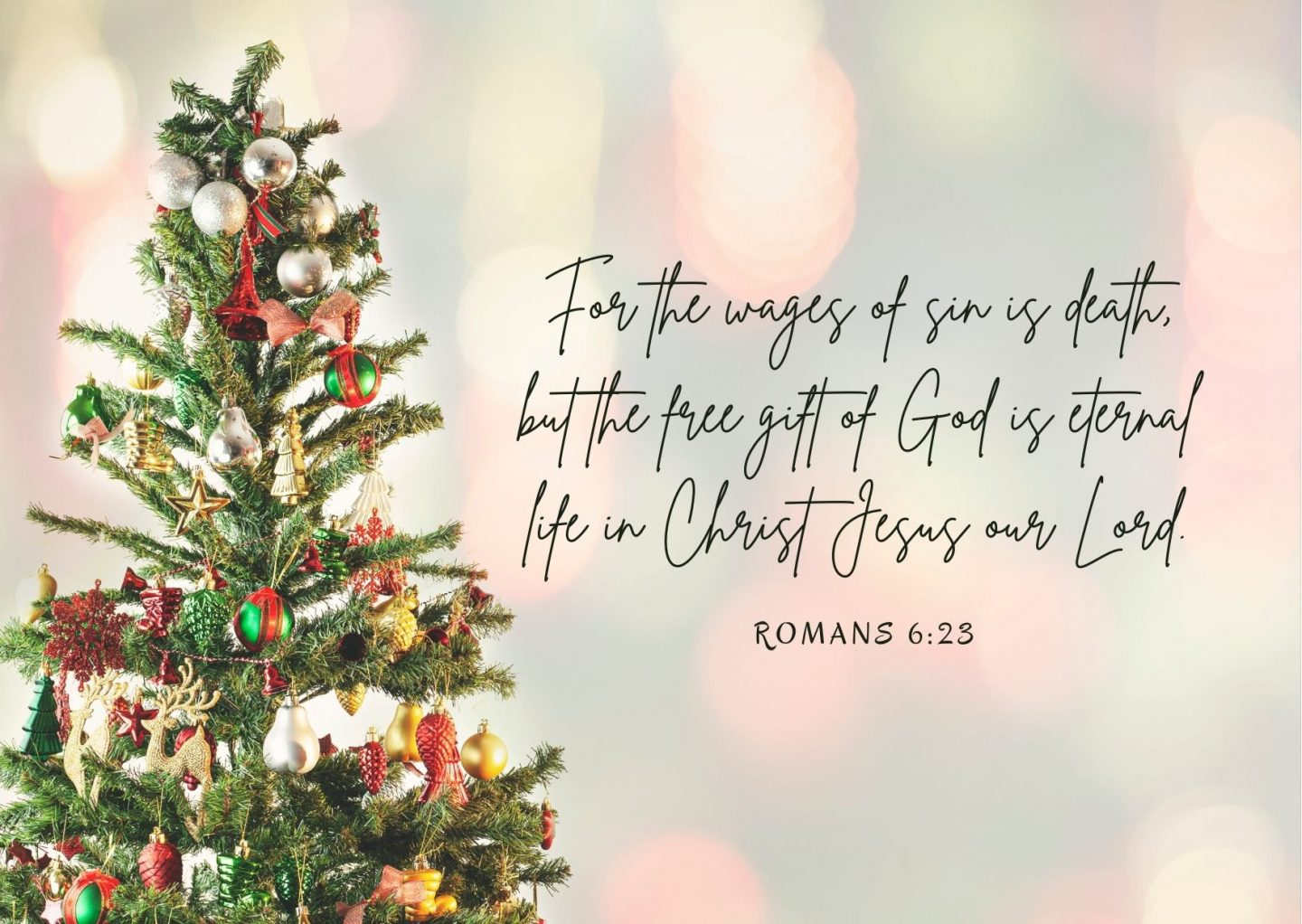 For the wages of sin is death, but the free gift of God is eternal life in Christ Jesus our Lord. Romans 6:23