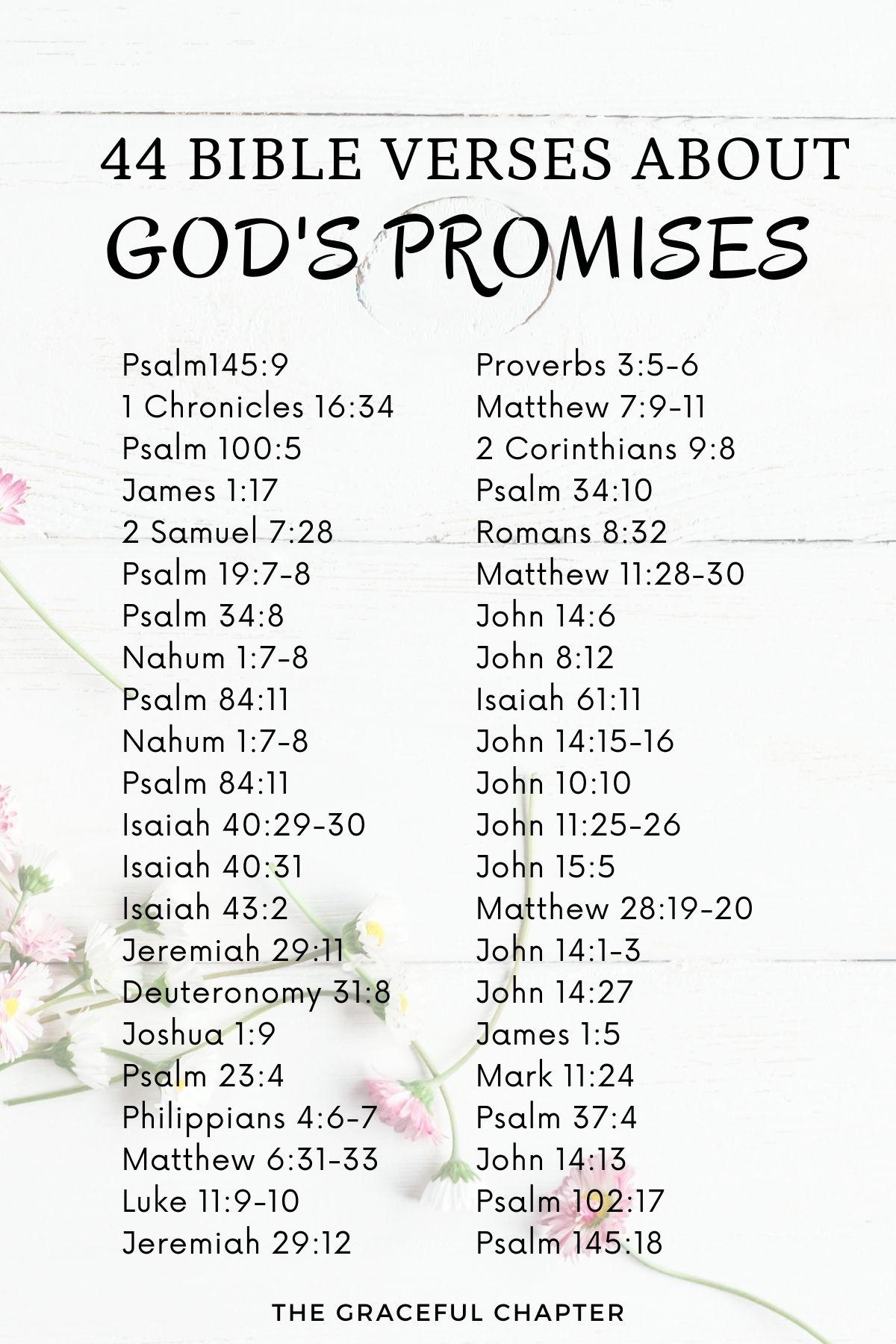 44 Bible verses about God's promises